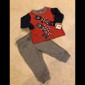 Tea Collection Baby Boy's Tako Outfit Size 3/6 M
